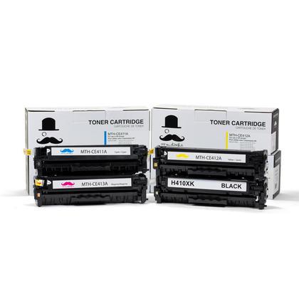 Compatible HP 305X noire + HP 305A couleur cartouche de toner combo BK/C/M/Y - Moustache®