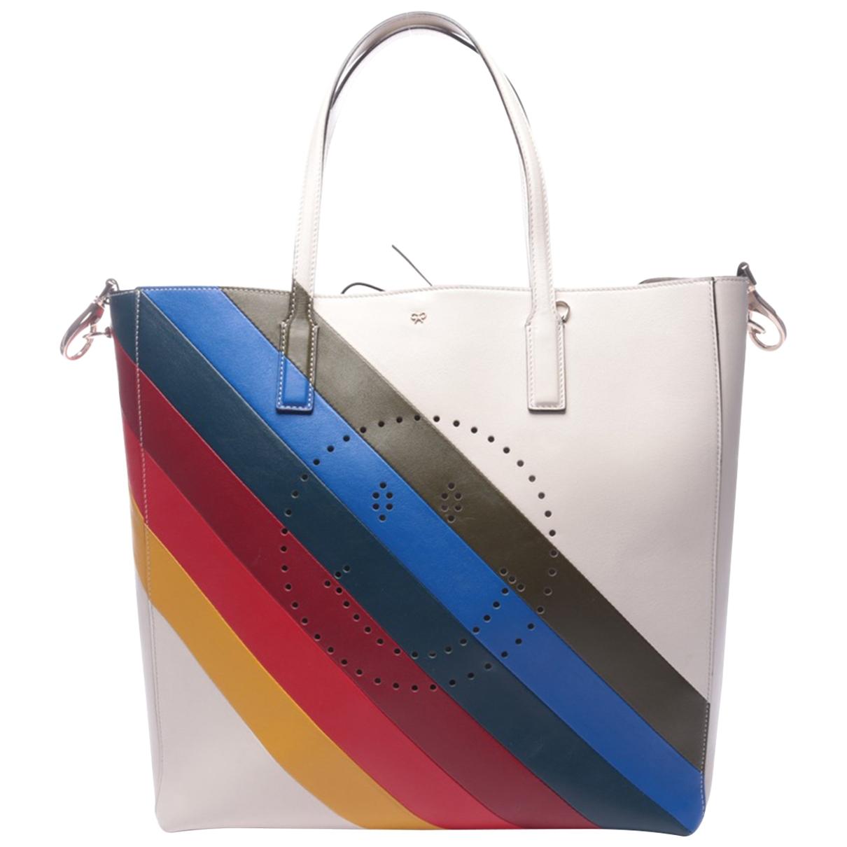 Anya Hindmarch Ebury Maxi  Handtasche in  Bunt Leder