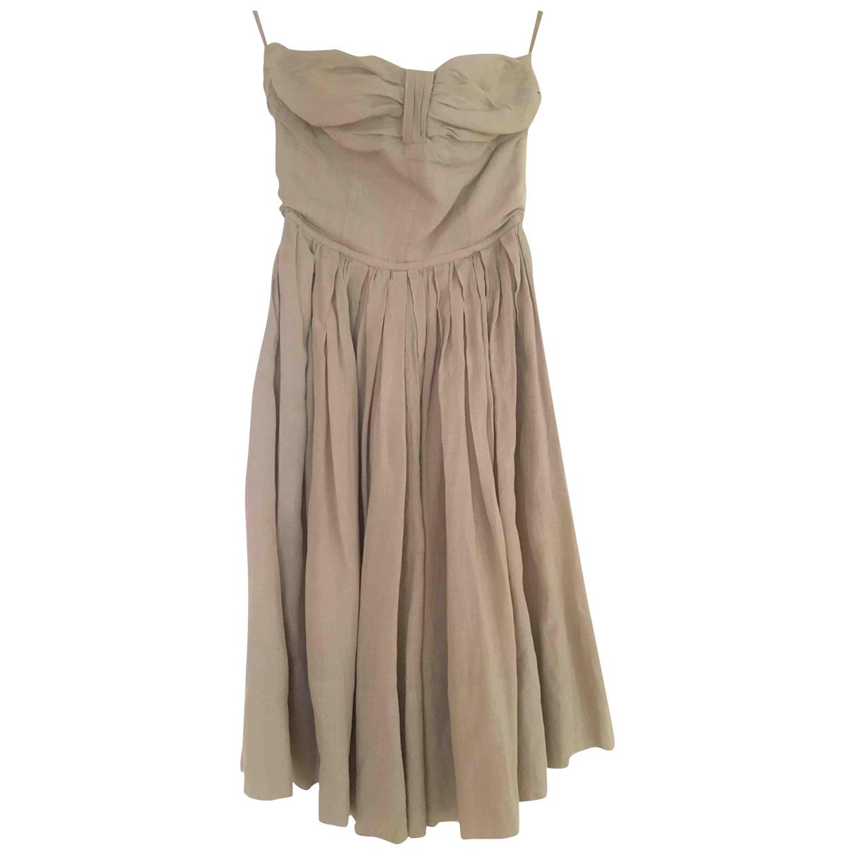 Jil Sander \N Beige Linen dress for Women 38 FR
