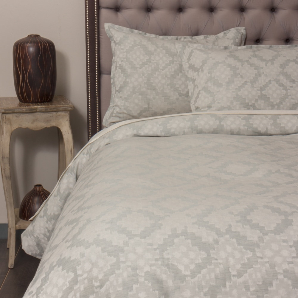 Sondy French Ikat Duvet Cover Set (Sea Glass - Queen)
