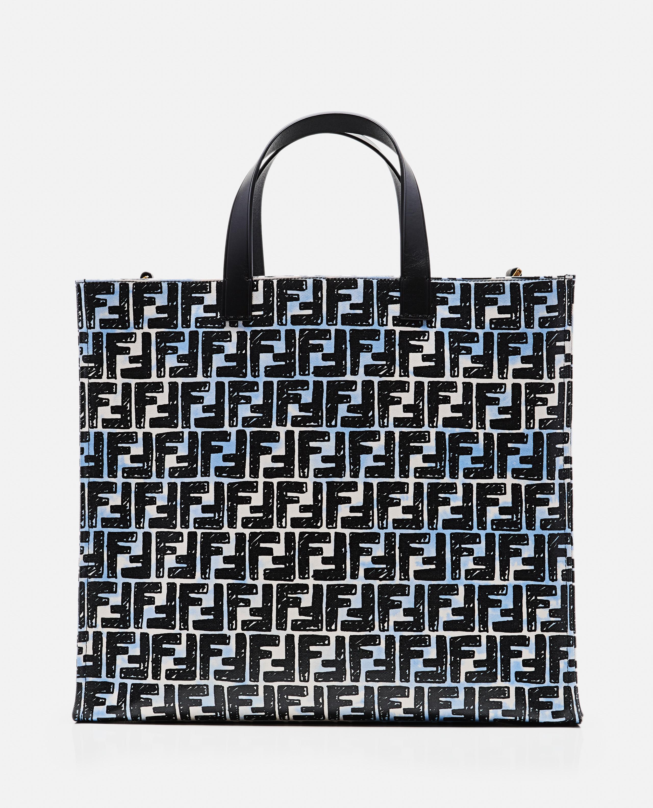 Shopper bag in FF vitrified canvas