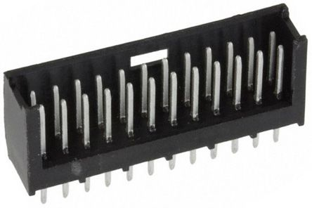 TE Connectivity , AMPMODU MOD II, 24 Way, 2 Row, Straight PCB Header (10)