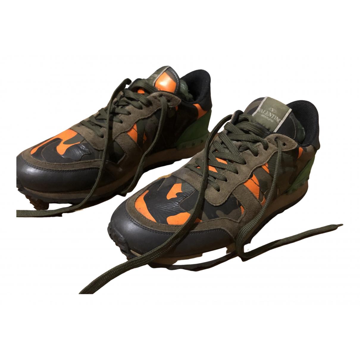 Valentino Garavani Rockrunner Multicolour Leather Trainers for Men 44 EU