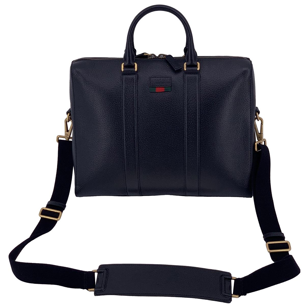 Gucci \N Black Leather bag for Men \N