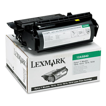 Lexmark 12A5840 cartouche de toner du programme retour originale noire