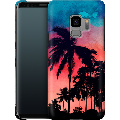 Samsung Galaxy S9 Smartphone Huelle - Palm Trees at Sunset von Mark Ashkenazi