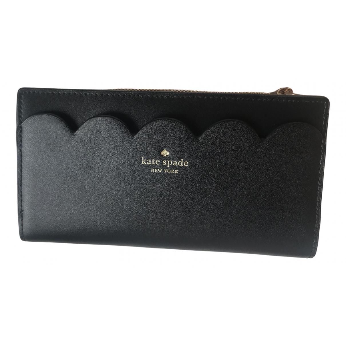 Kate Spade - Portefeuille   pour femme en cuir - noir