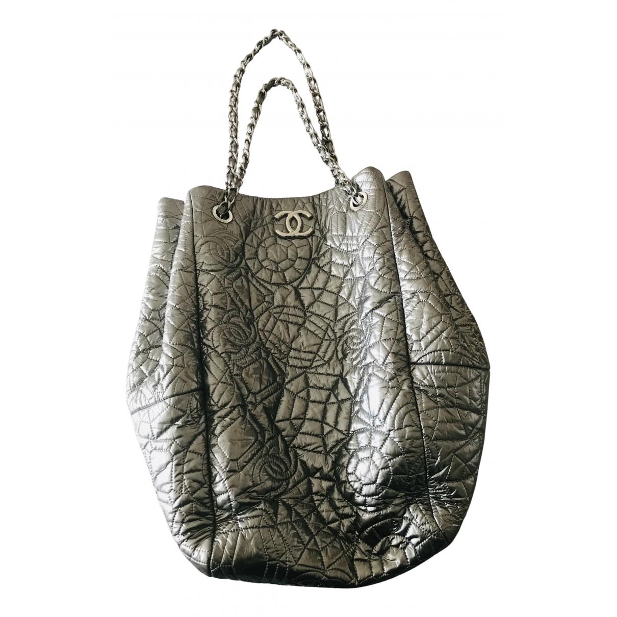 Chanel N Silver Cloth handbag for Women N