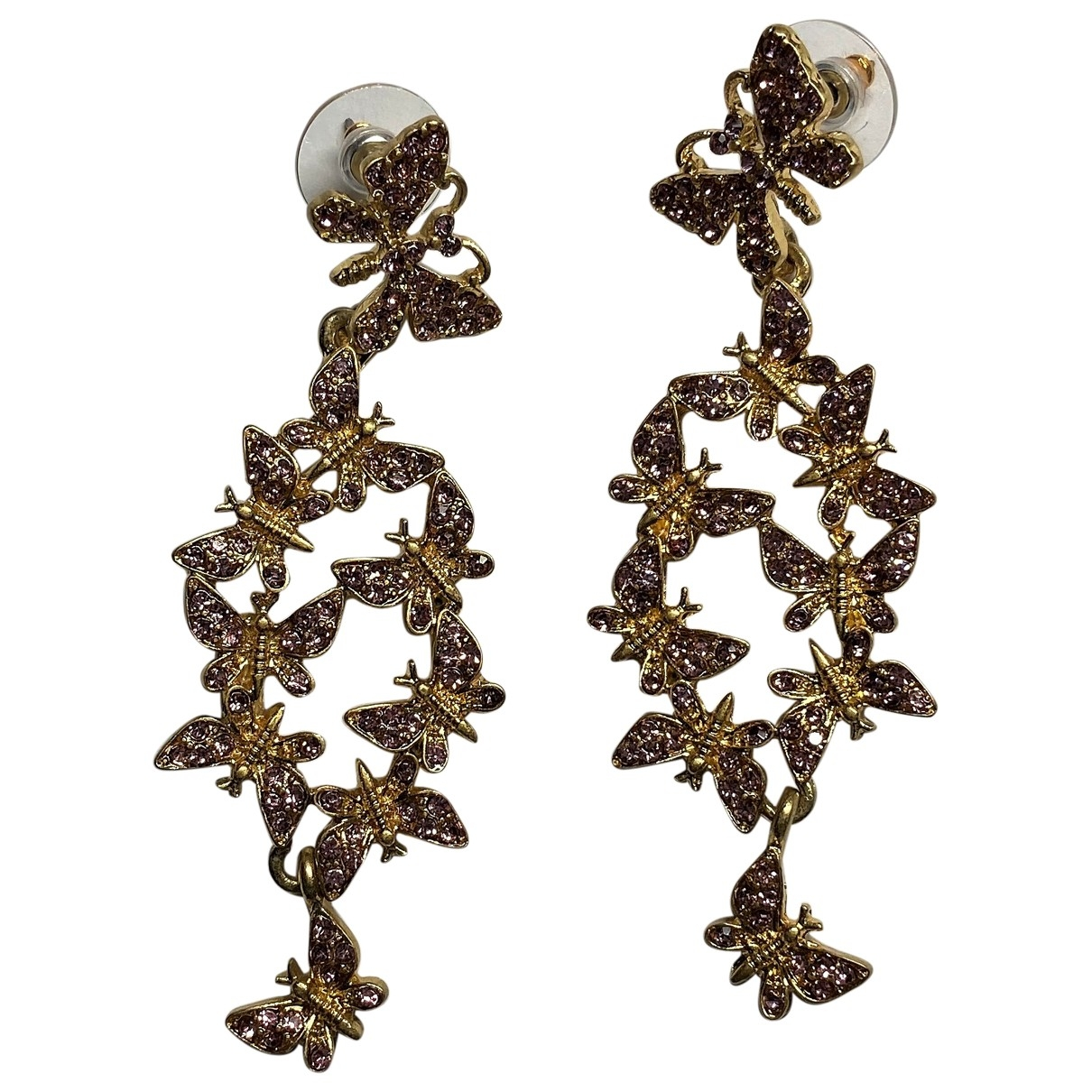 Oscar De La Renta \N Pink Metal Earrings for Women \N