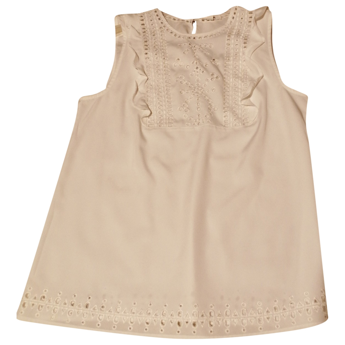 Non Signé / Unsigned \N White  top for Women 42 FR