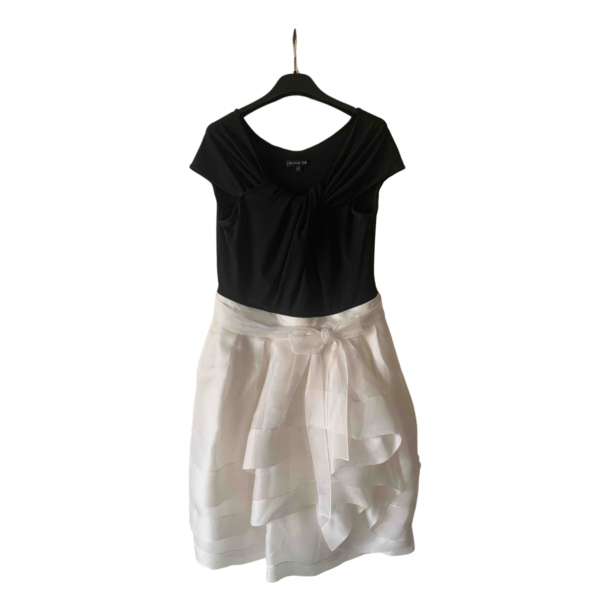 Paule Ka \N Kleid in  Schwarz Seide