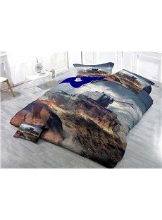 Tank Wear-resistant Breathable High Quality 60s Cotton 4-Piece 3D Bedding Sets