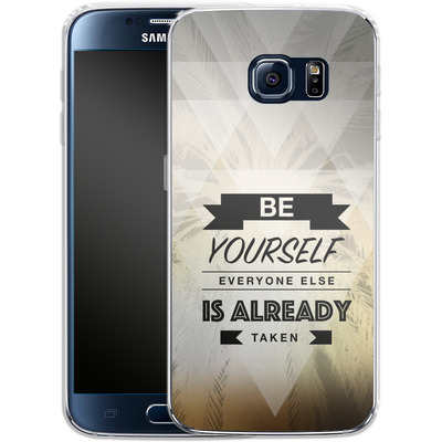 Samsung Galaxy S6 Silikon Handyhuelle - Be Yourself von Statements