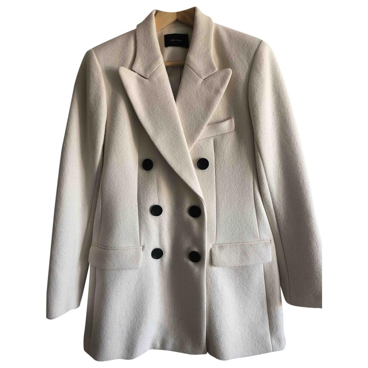 Isabel Marant - Manteau   pour femme en coton - ecru