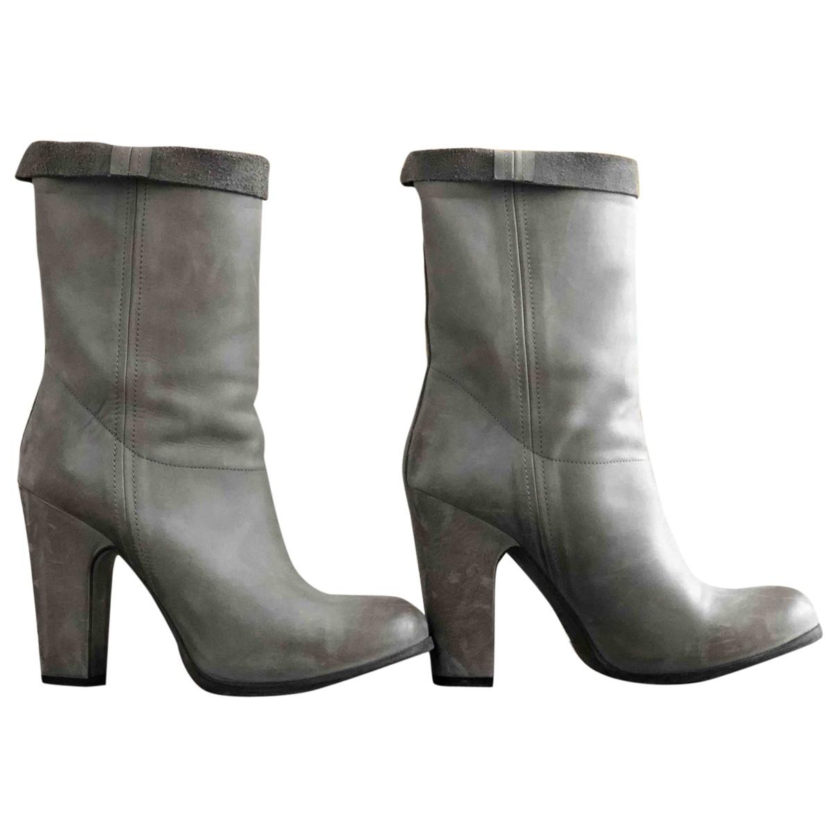 Sartore - Bottes   pour femme en cuir - gris