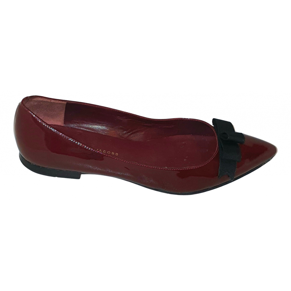 Marc By Marc Jacobs N Burgundy Patent leather Ballet flats for Women 40 EU