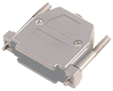 MH Connectors , MHCCOV ABS D-sub Connector Backshell, 25 Way, Strain Relief, Grey (5)