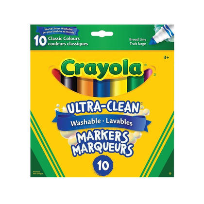Crayola ultra-clean washable markers - couleurs assorties - classic colours (318915)