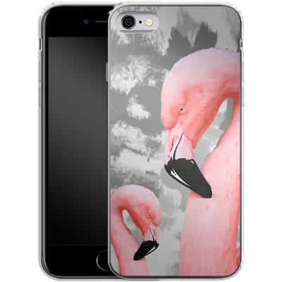Apple iPhone 6 Silikon Handyhuelle - Flamingo Grey von Mukta Lata Barua