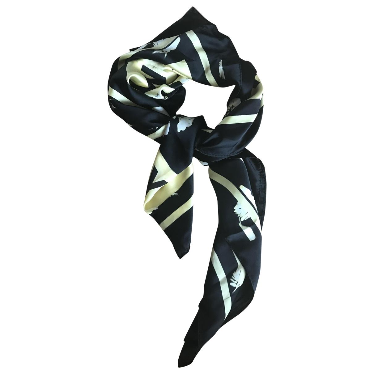 Donna Karan - Foulard   pour femme en soie - noir