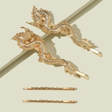 4pcs Chinese Dragon Decor Bobby Pin