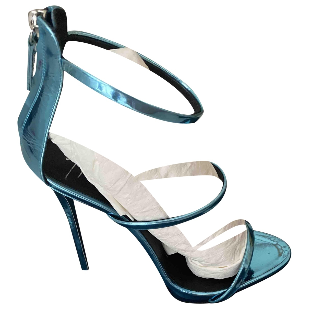 Giuseppe Zanotti - Sandales   pour femme en cuir verni - turquoise