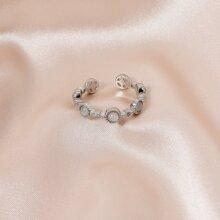 Stone Decor Cuff Ring