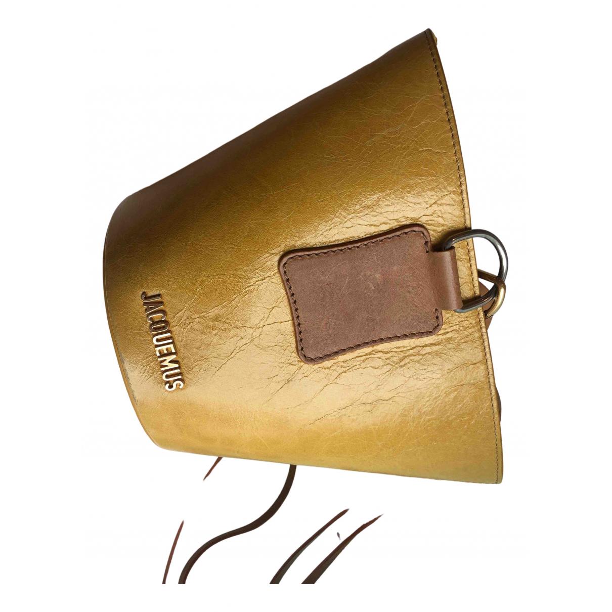 Jacquemus Le Praia Yellow Leather handbag for Women \N