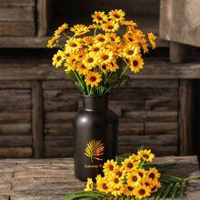 1 Strauss Kuenstliche Sonnenblume und 22 Stuecken Blumen