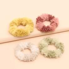 4pcs Fluffy Hair Tie