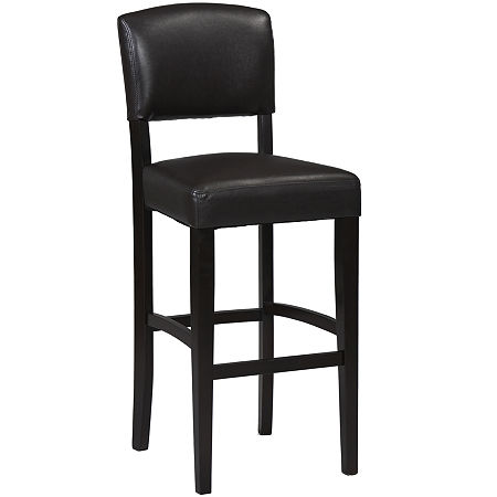 Brady Upholstered Barstool with Back, One Size , Brown