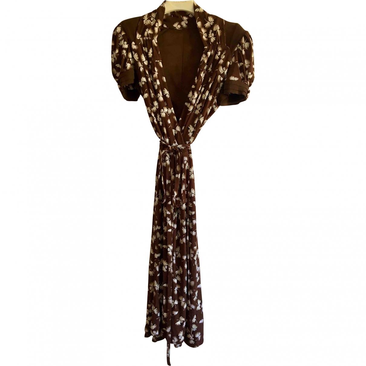 Gucci \N Brown Silk dress for Women 44 IT