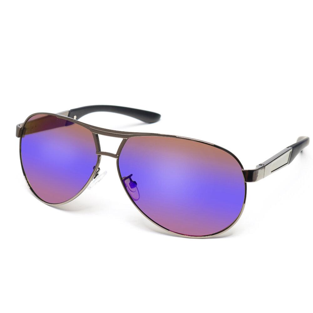 Mens Womens Summer Metal Frame Polarized Sunglasses Outdoor Driving HD Anti-UV Glasses