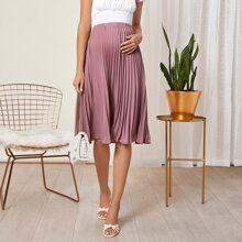 Maternity Pleated Skirt