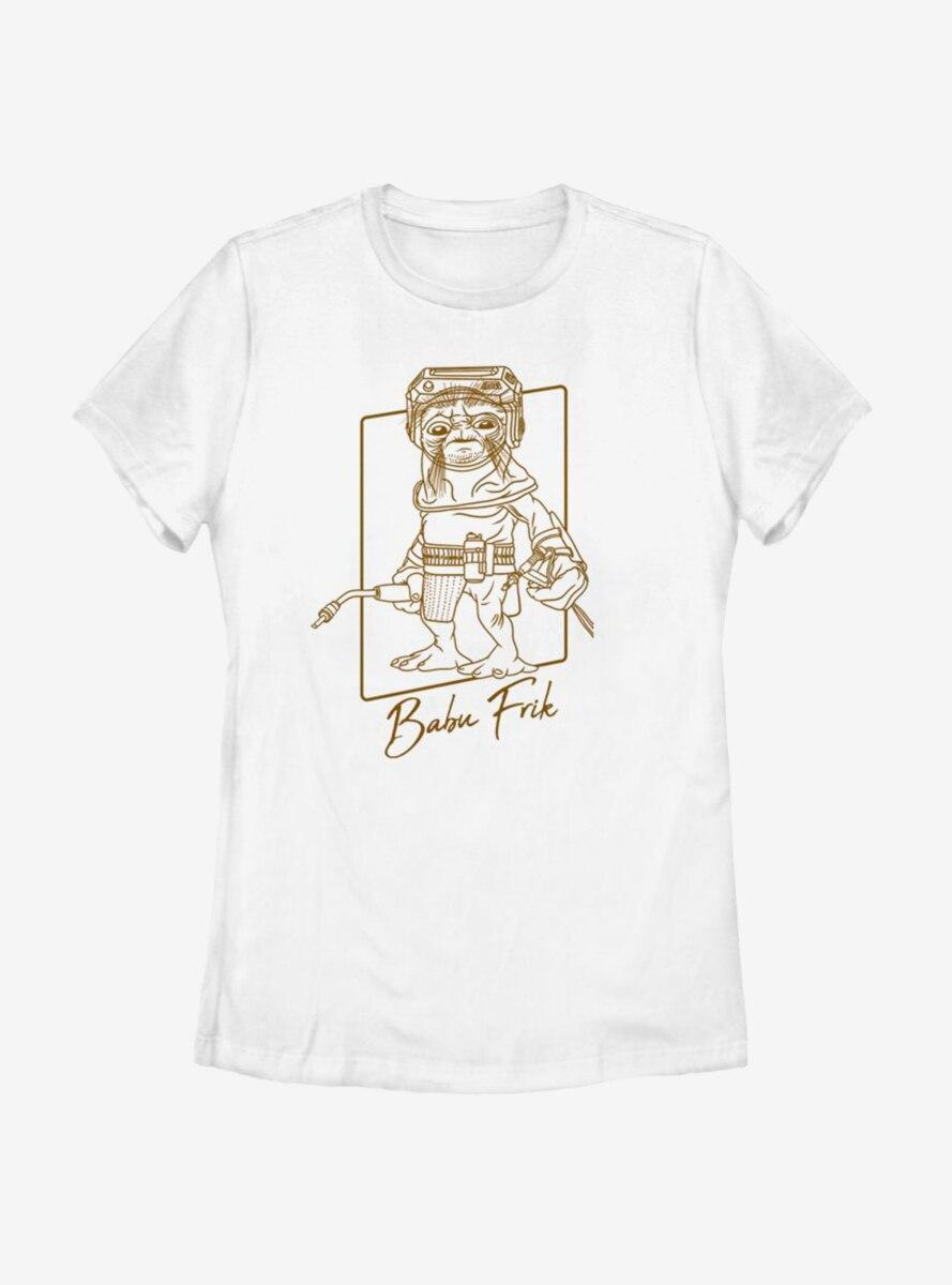 Star Wars Episode IX The Rise Of Skywalker Babu Outline Womens T-Shirt