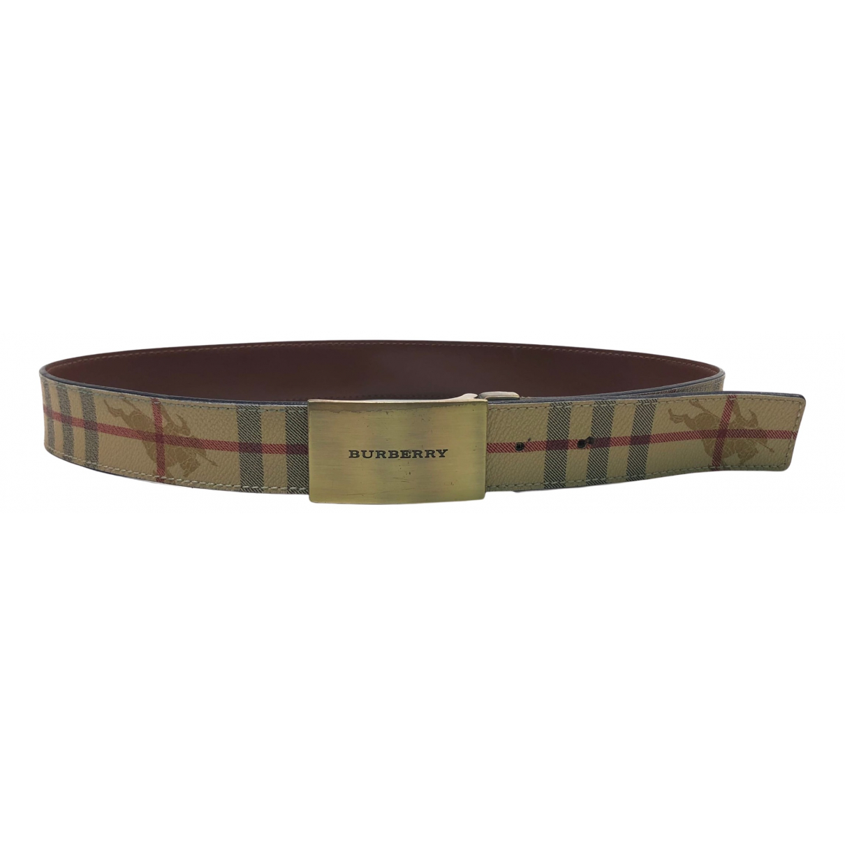 Burberry N Beige Cloth belt for Women 80 cm