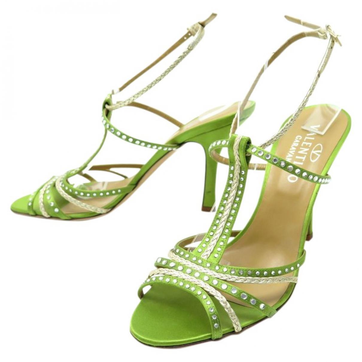 Valentino Garavani \N Green Cloth Sandals for Women 40.5 EU