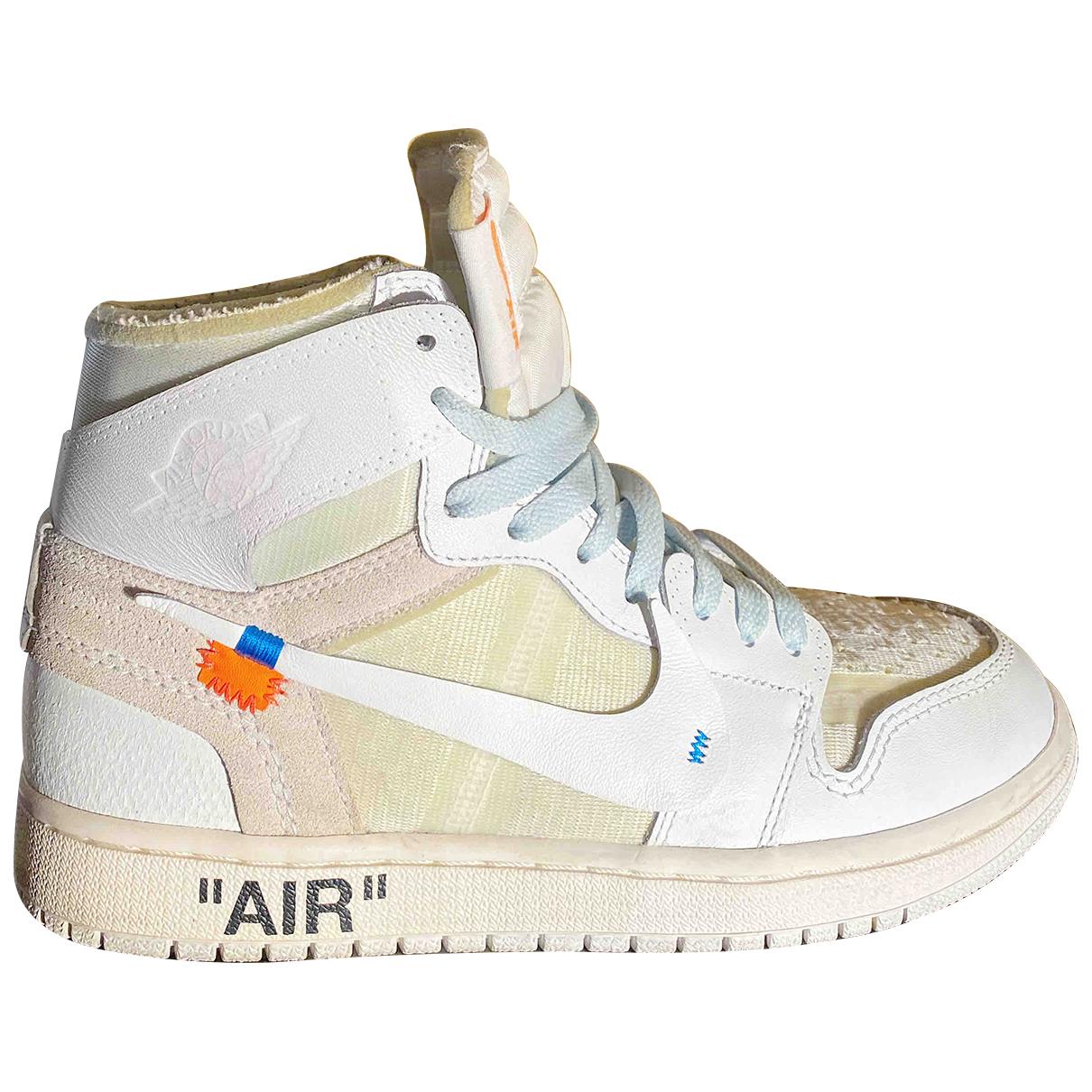 Deportivas Air Jordan 1 de Cuero Nike X Off-white