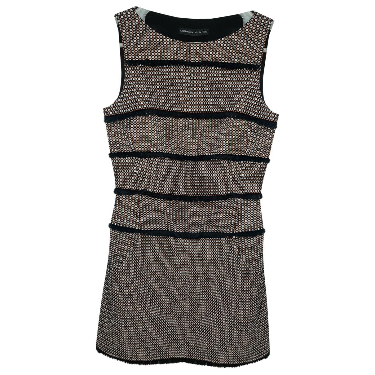Karen Millen \N Kleid in  Schwarz Baumwolle