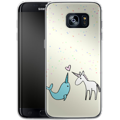 Samsung Galaxy S7 Edge Silikon Handyhuelle - Two Horns von caseable Designs