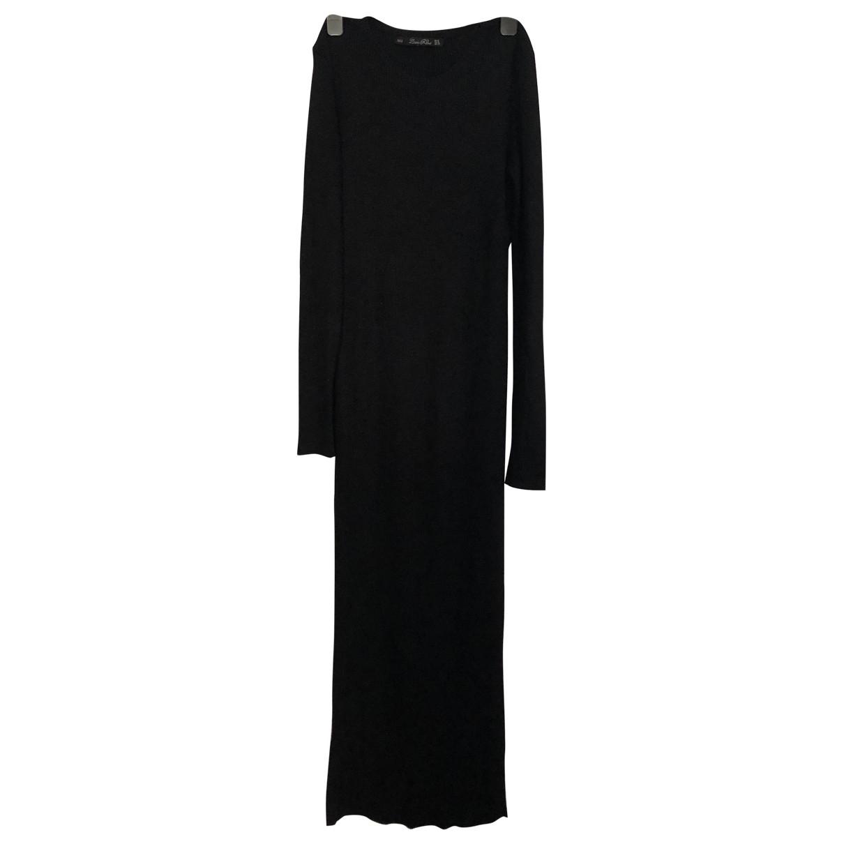 Zara \N Black Cotton - elasthane dress for Women M International