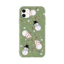 Funda de iphone con muñeca de nieve de Navidad