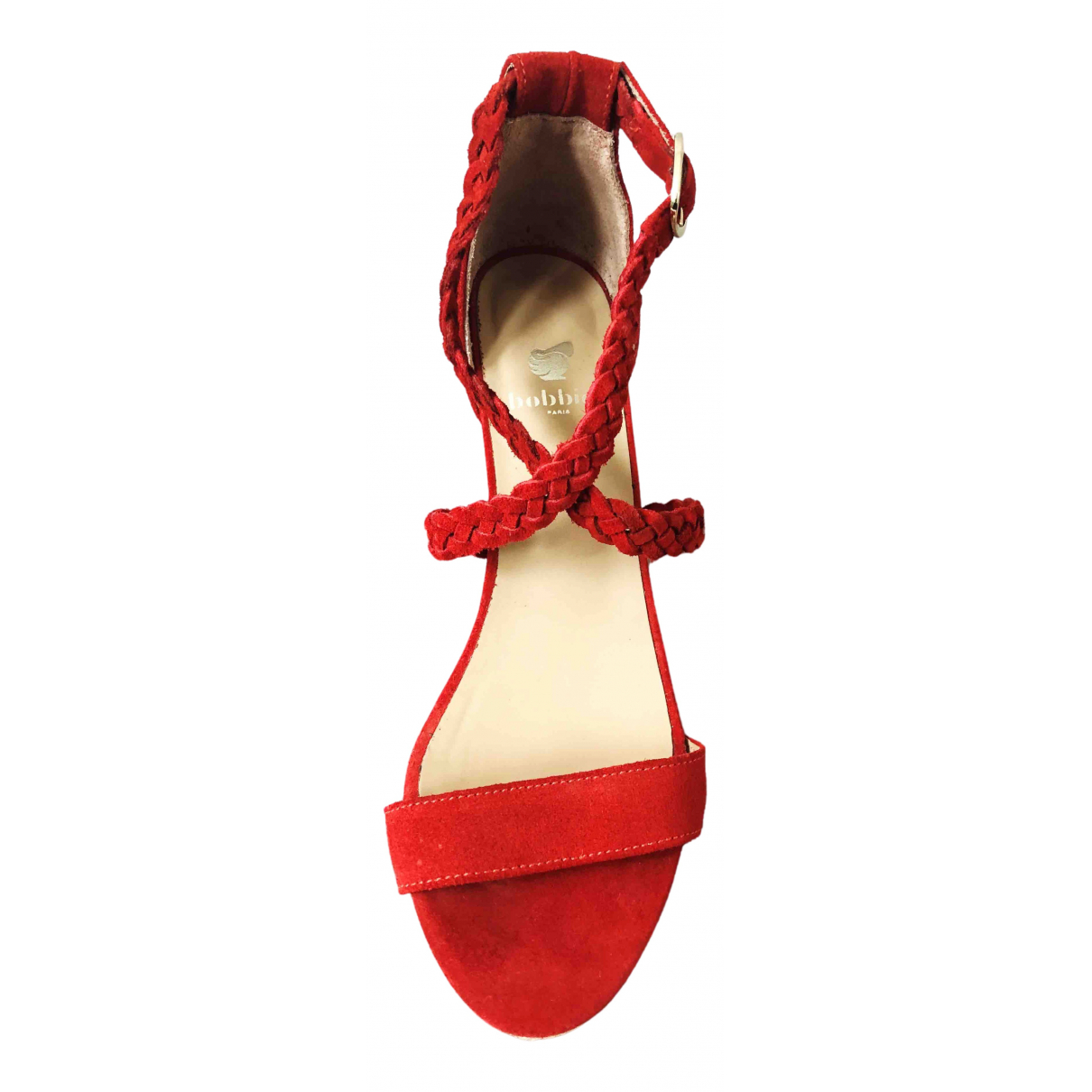 Bobbies \N Red Leather Heels for Women 38 EU