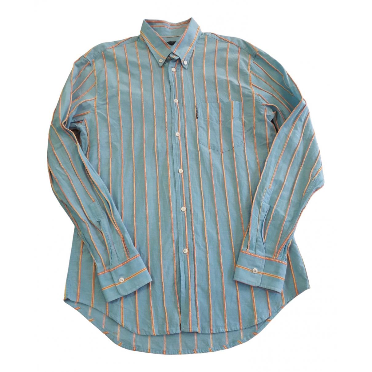 Valentino Garavani - Chemises   pour homme en coton - bleu