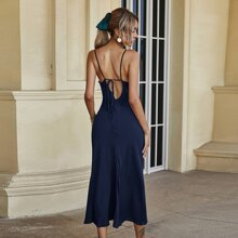 Tie Back Cowl Neck Cami Dress