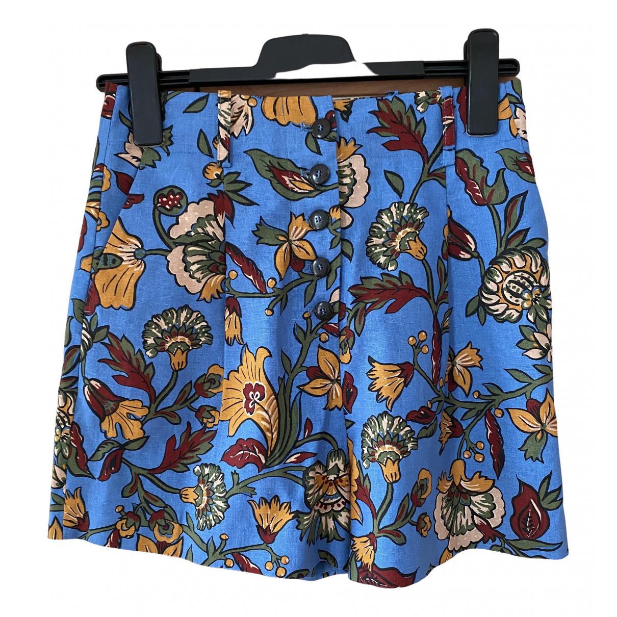 Sézane Spring Summer 2020 Multicolour Cotton Shorts for Women 36 FR