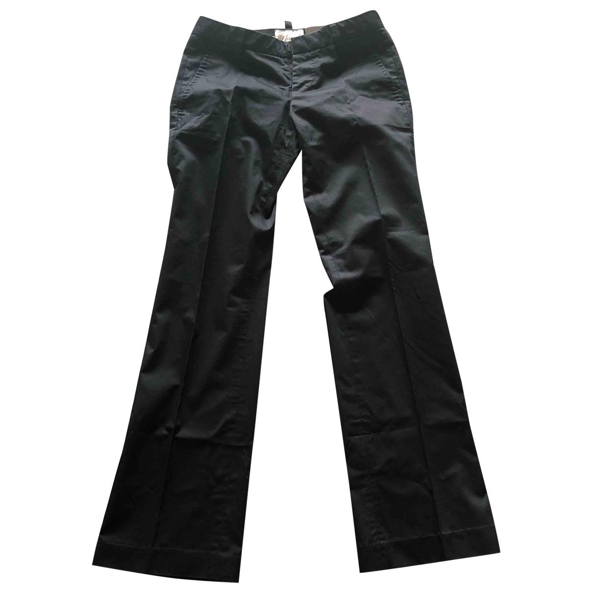 - Pantalon   pour femme en coton - noir