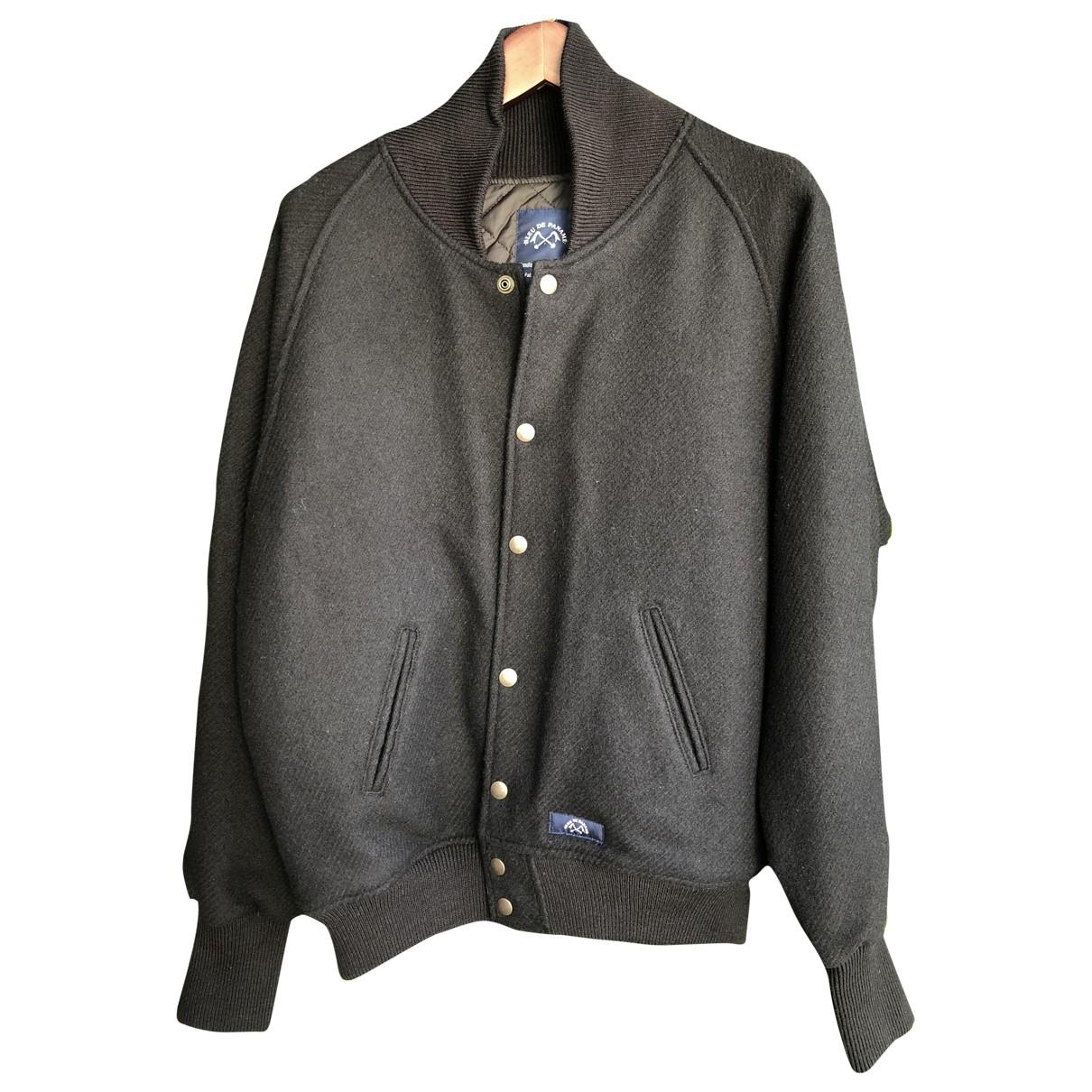 Bleu De Paname - Vestes.Blousons   pour homme en laine - noir
