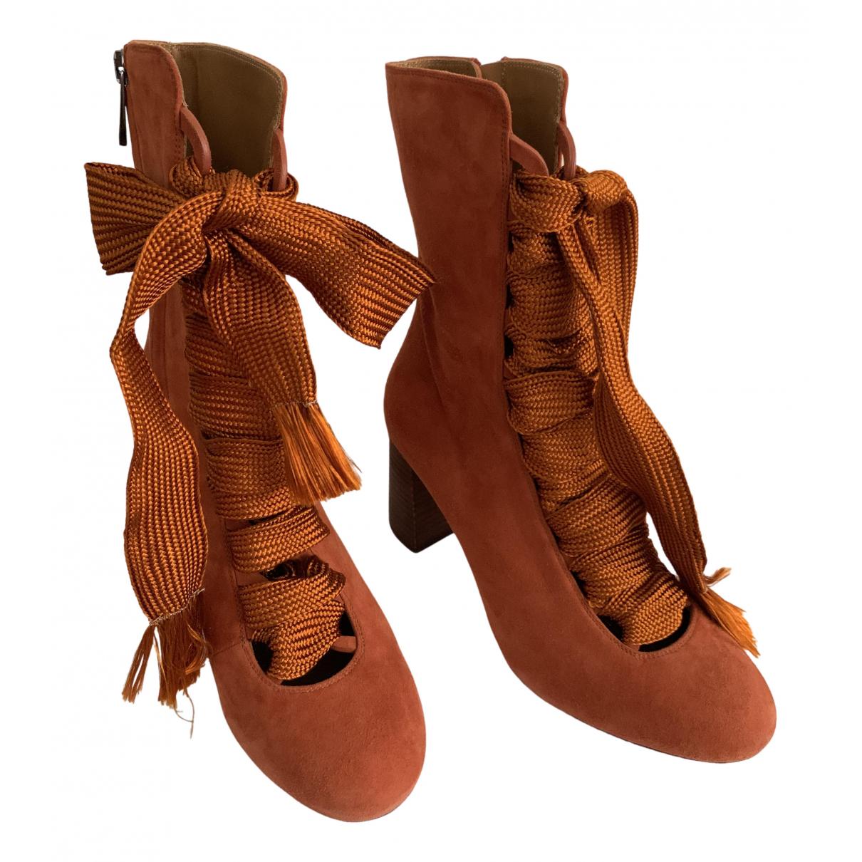 Chloé \N Camel Suede Boots for Women 37 EU
