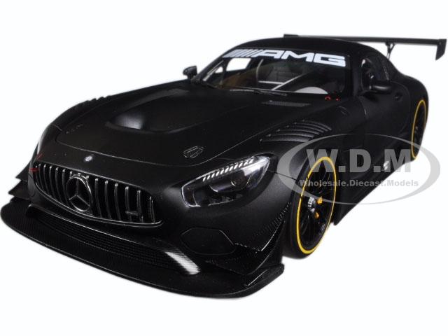 Mercedes AMG GT3 Plain Color Version Matt Black 1/18 Model Car by Autoart